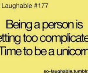 unicorn, person, and complicated image