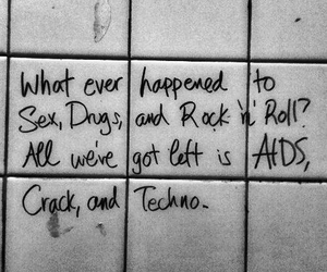 aids, crack, and techno image