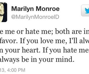 hate, Marilyn Monroe, and quotes image