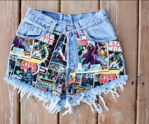 high waisted shorts, cute, and star wars image