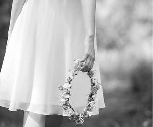 flowers, beautiful, and dress image
