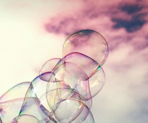 bubble, bubbles, and pink image