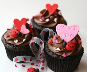 chocolate, red, and cupcake image