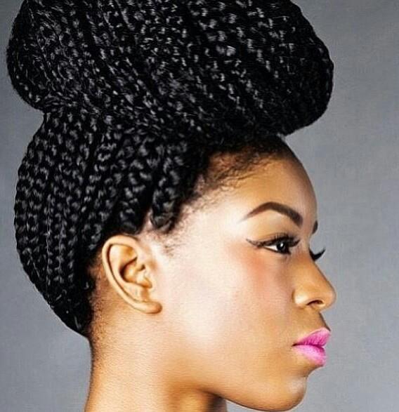 braids, box braids, and beauty image