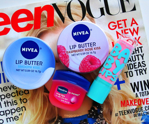 nivea, baby lips, and girly image