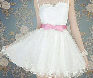 dress, white, and cute image