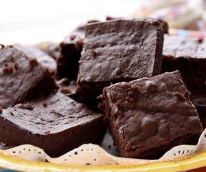 chocolate, brownies, and food image