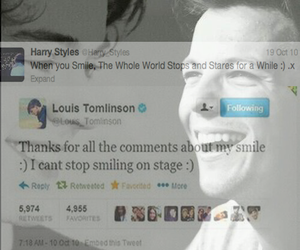 smile, stage, and louis tomlinson image