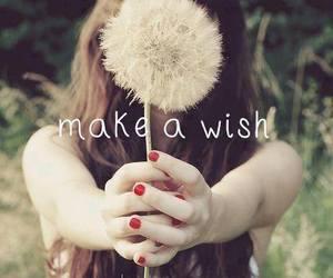 wish, flowers, and make image
