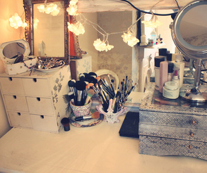 dressing table, table, and vanity image
