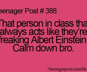 teenager post, class, and Albert Einstein image