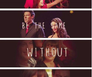 glee, finchel, and lea michele image