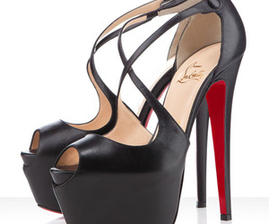 christian louboutin, black, and shoes image
