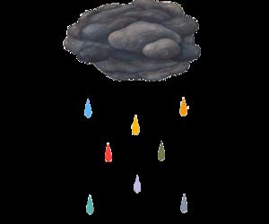rain, clouds, and rainbow image