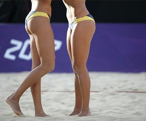 fit, beach volley, and legs image