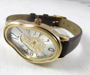 leather accessories, wrist watches, and black watch image