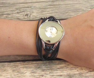 leather watch, black watch, and women's watches image