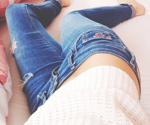 fit, healthy, and jeans image