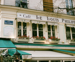beautiful, cafe, and france image