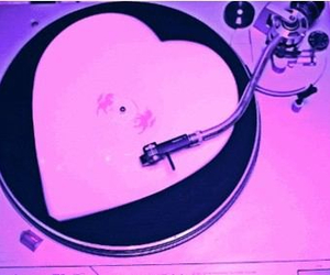 pink, heart, and dj image