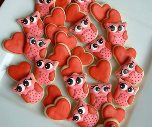owl, heart, and Cookies image