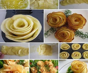 food, potato, and rose image