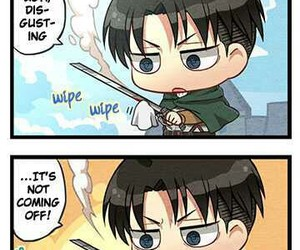 chibi, shingeki no kyojin, and attack on titan image