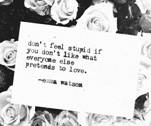flowers, emma watson, and quote image