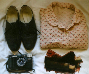 vintage, camera, and shoes image