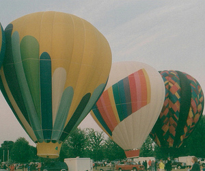 vintage, balloons, and fly image