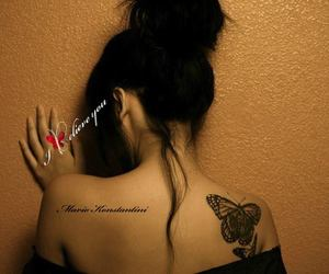 butterfly, hair, and ring image