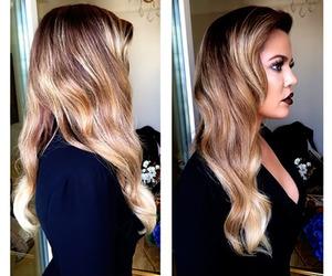 khloe kardashian, blonde, and hair image