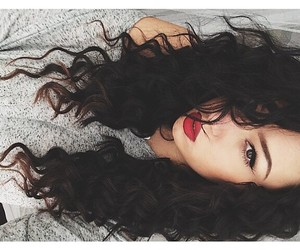 curly, fashion, and makeup image
