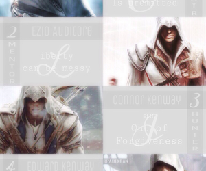 assassin's creed, ezio auditore, and connor kenway image