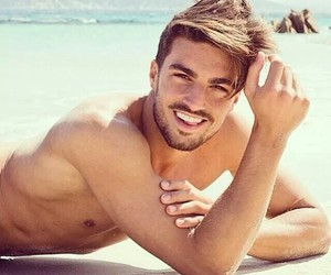 beach, handsome, and lips image