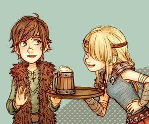 astrid, hiccup, and cute image