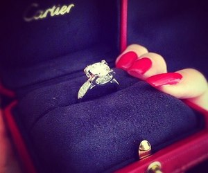 ring, nails, and cartier image