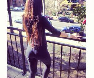 brunette, girl, and long hair image