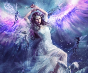 angel, fairy, and art image