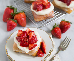 strawberry, dessert, and food image