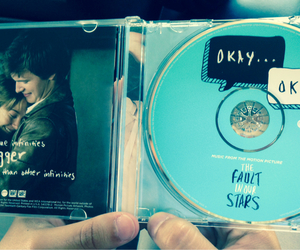 music, the fault in our stars, and tfios image