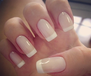 nails, french, and manicure image