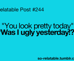 pretty, funny, and ugly image