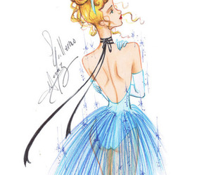 blue, drawings, and fashion image