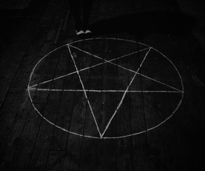 satan, star, and black and white image