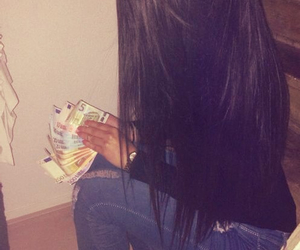 girl, hair, and money image