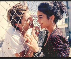 boy, couple, and fence image