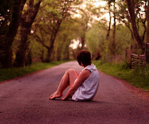alone, girl, and photography image