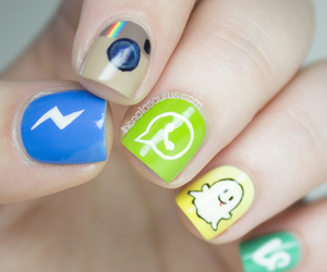 app, nail art, and vine image