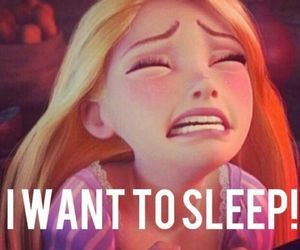 sleep, disney, and rapunzel image